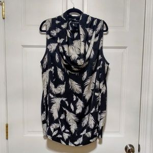 Black/White Feather Print Layering Top 18/20